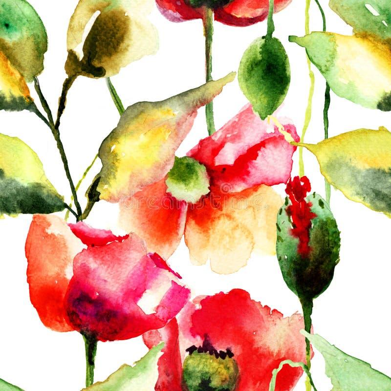 Fiori variopinti della primavera senza cuciture del modello royalty illustrazione gratis