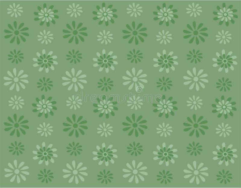 Fiori verdi su priorità bassa verde illustrazione di stock