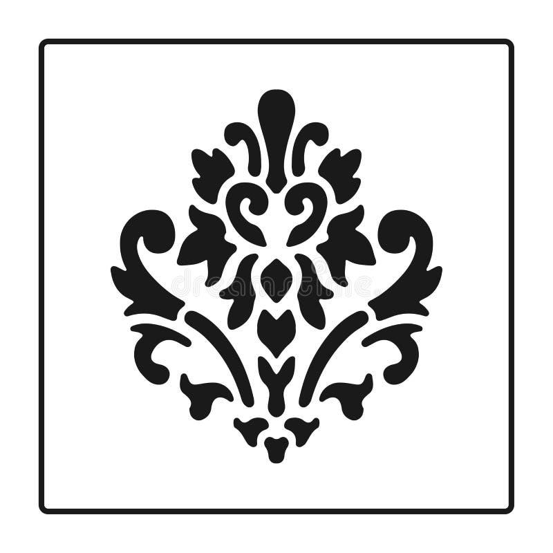 Fiorisca il simbolo, le siluette nere - simbolo araldico Stile barrocco Illustrazione di vettore Segno medievale Giglio araldico  royalty illustrazione gratis