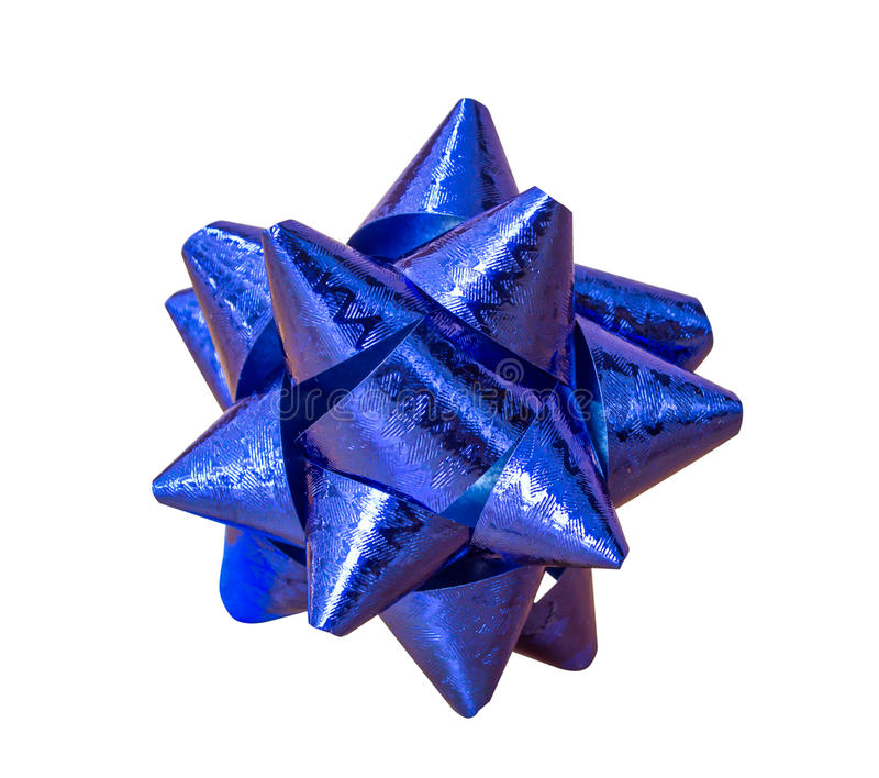 Fiorisce l'involucro di regalo blu fotografia stock libera da diritti