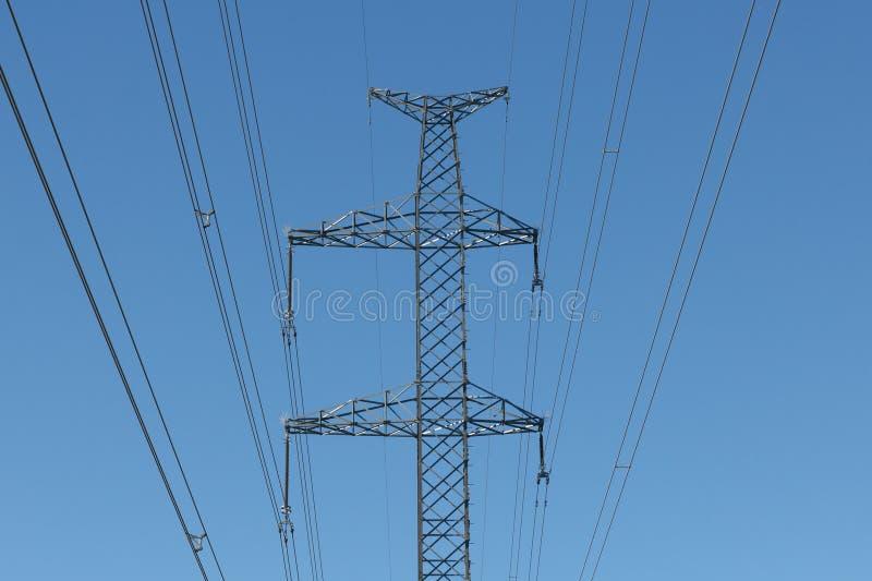 Fios da linha elétrica imagem de stock