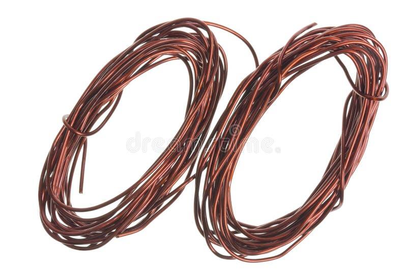 Fios de cobre fotografia de stock