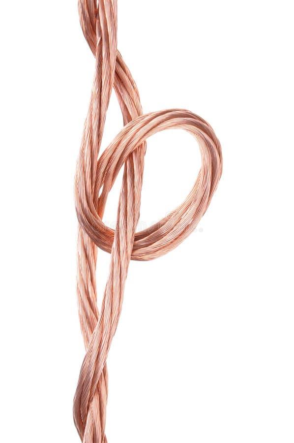 Fios de cobre foto de stock