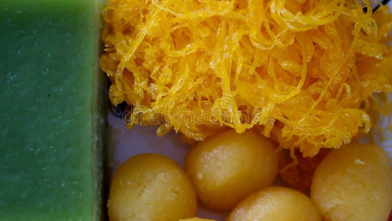 Fios de ovos, сладкие потоки яйца или ремень Foi стоковые изображения
