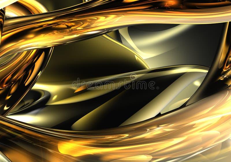 Fios dourados 01 ilustração royalty free