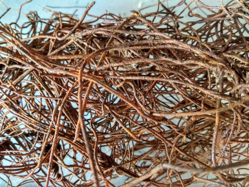 Fios oxidados do ferro fotografia de stock