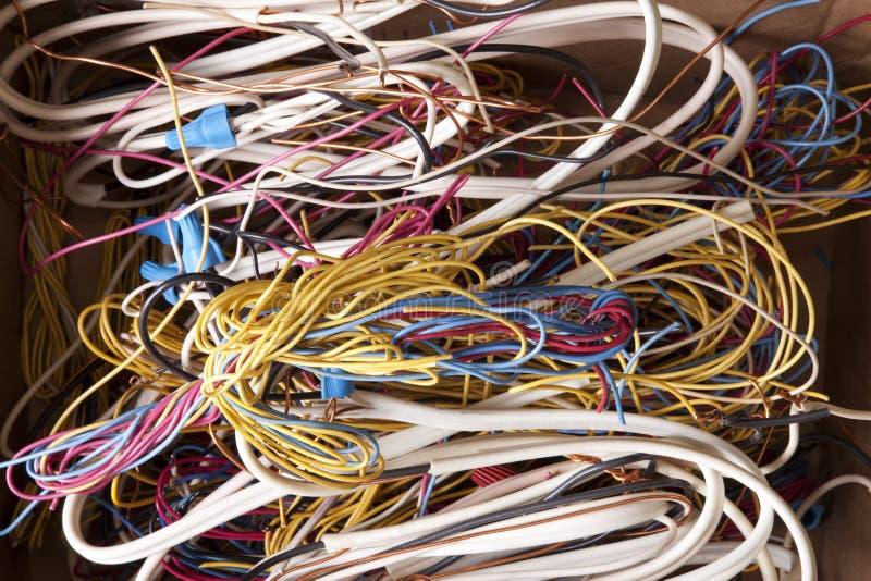 Fios Tangled fotografia de stock