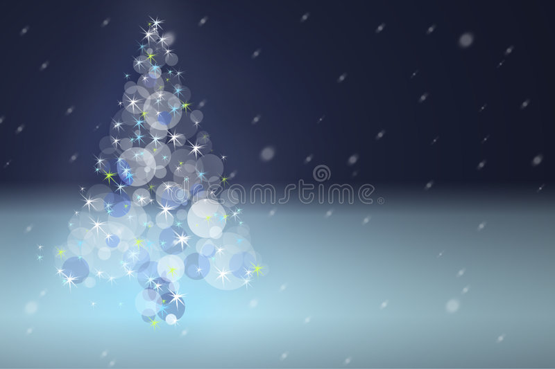 The fir from lights royalty free illustration