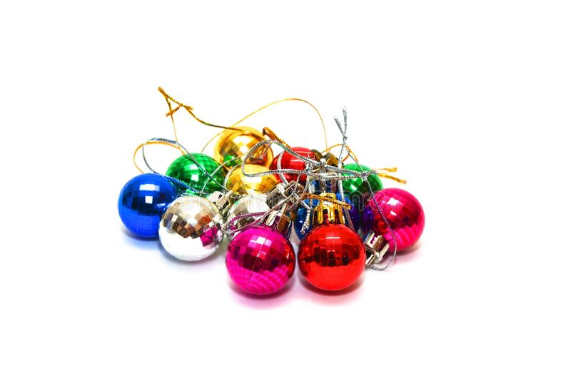 Fir toys. Photo of the fir toys on white background stock photo