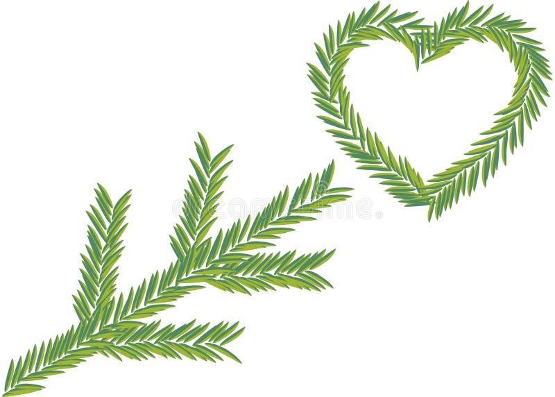 Fir tree branch stock illustration