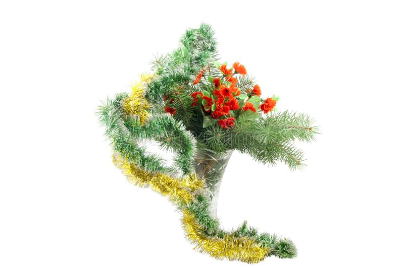 Fir-tree branches in a vase royalty free stock images