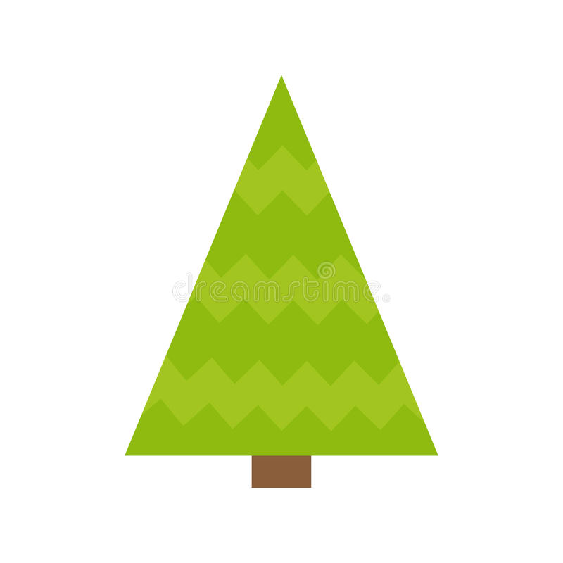 Download Fir Tree Icon Green Triangle Simple Shape Form Christmas White