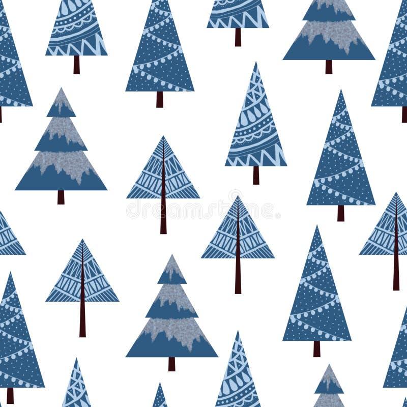 Fir_tree_pattern vektor illustrationer