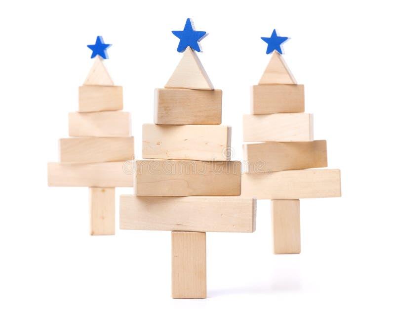 Fir tree of wooden bars stock photos