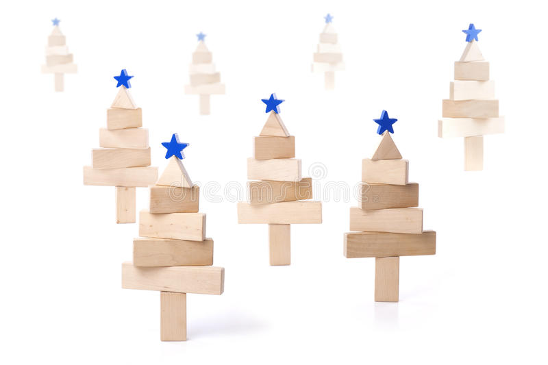 Fir tree of wooden bars royalty free stock image