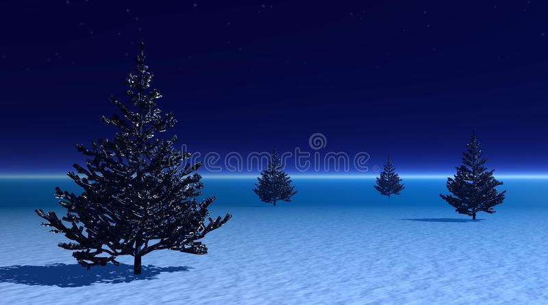 Download Fir Trees Among Fog By Evening Stock Illustration - Image: 12343245