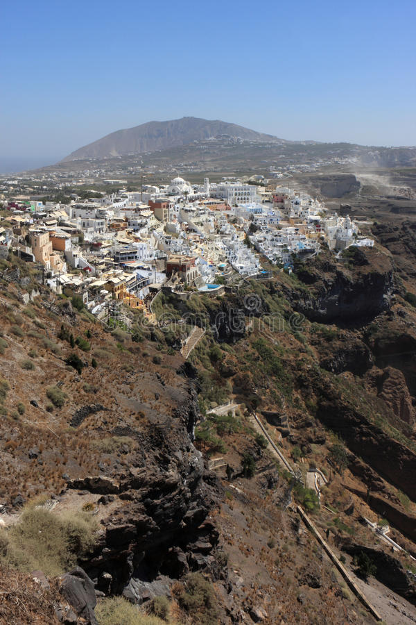 Download Fira é O Santorini De Capital Foto de Stock - Imagem de ninguém, marco: 16863850
