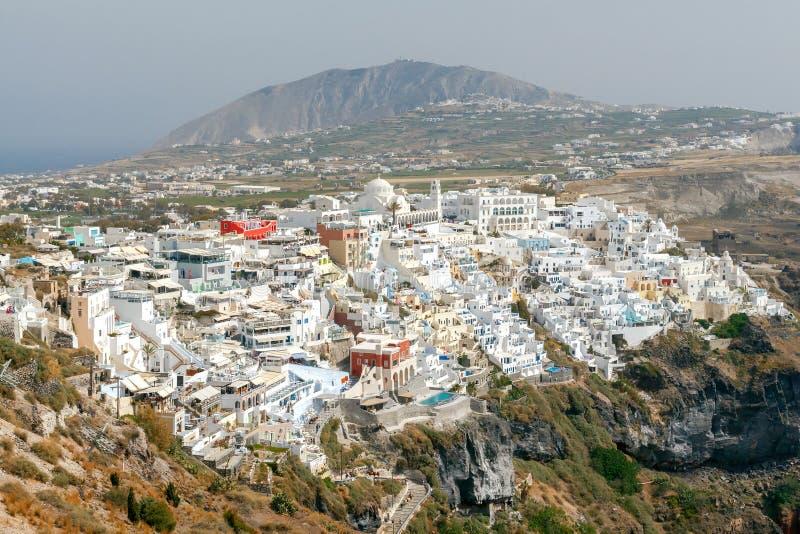 Fira воздушный взгляд города стоковое фото