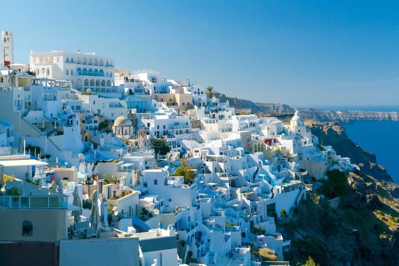 Fira воздушный взгляд города стоковые фото
