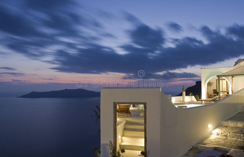 Download Fira stock image. Image of twilight, island, countries - 9735503