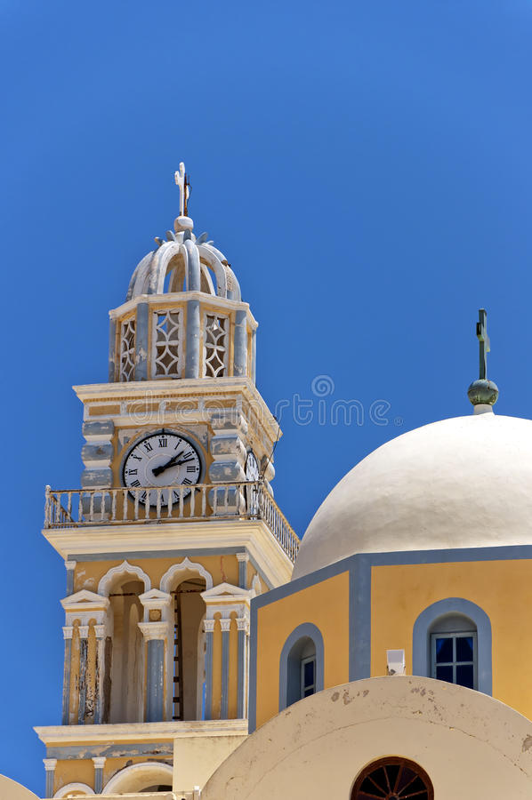 Download Fira catholic cathedral 02 stock photo. Image of horizontal - 20624384