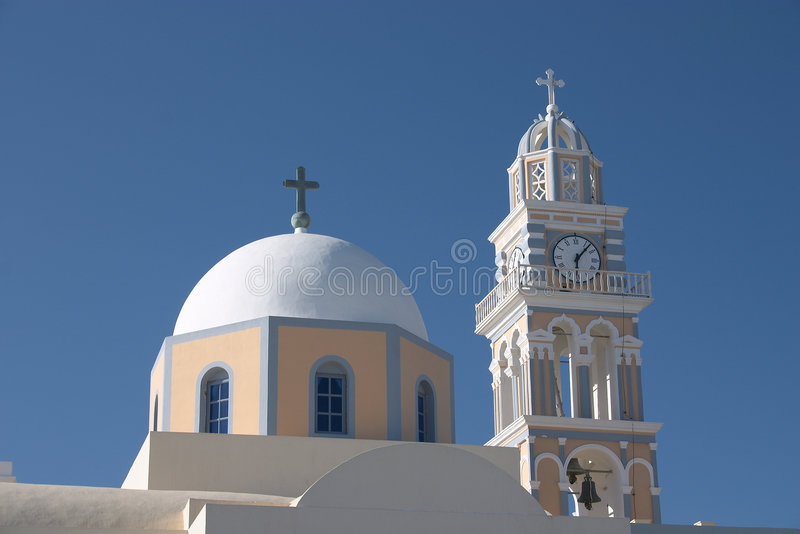 Download Fira catholic cathedral stock photo. Image of thera, greece - 36254