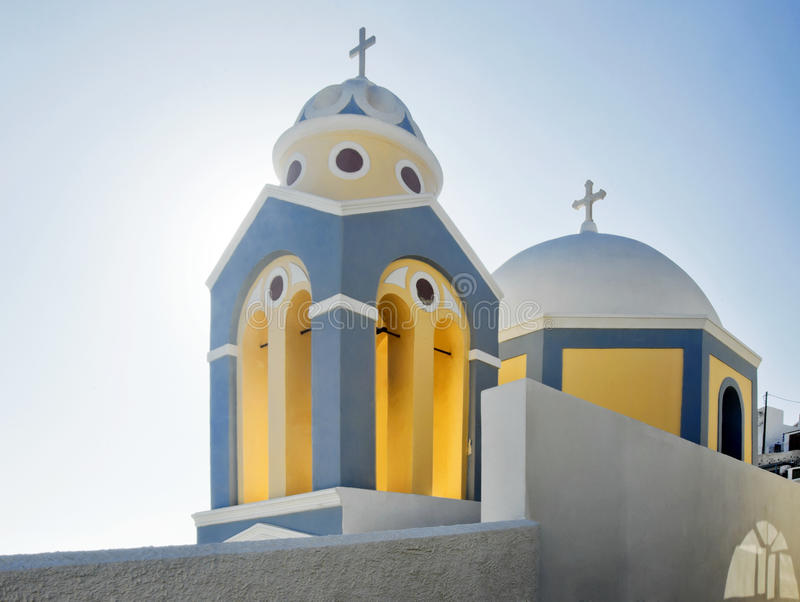 Fira church cupolas royalty free stock image