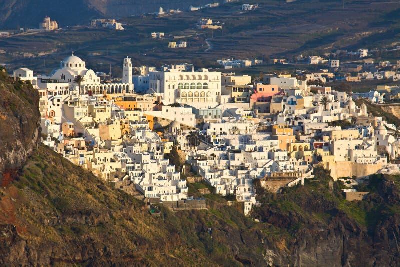 Download Fira City At Santorini Island In Greece Stock Image - Image: 24322505