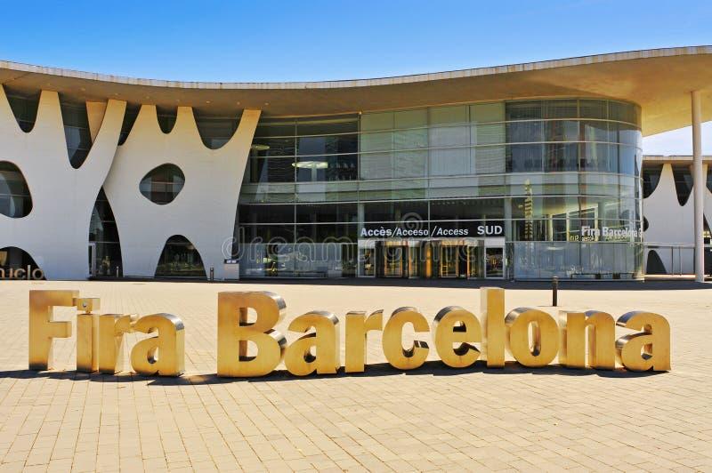Fira de Βαρκελώνη στη Βαρκελώνη, Ισπανία στοκ εικόνες