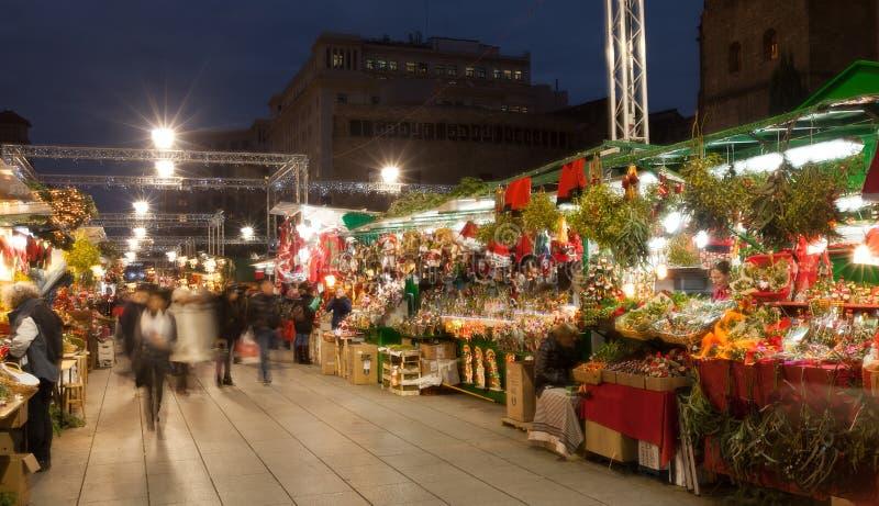 Fira de Santa Llucia - αγορά Χριστουγέννων κοντά στον καθεδρικό ναό στοκ εικόνες