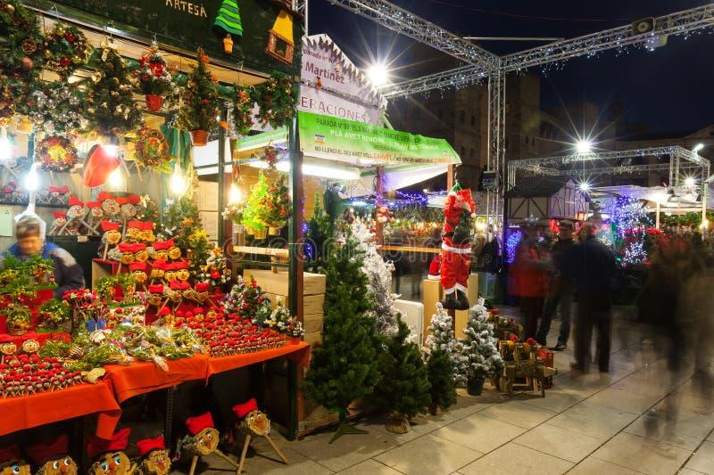 Fira de Santa Llucia - Christmas market. Barcelona. BARCELONA, SPAIN - DECEMBER 2: Traditional toys and gifts at Christmas Markets on December 2, 2013 in stock image