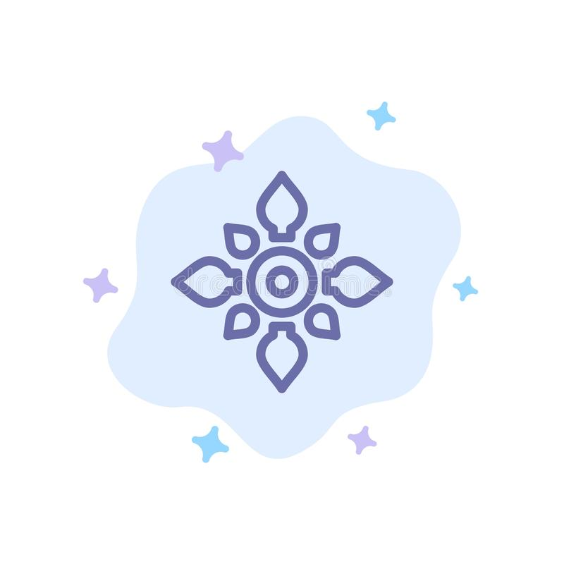 Fira, dekorera, garnering, Diwali som är hinduisk, Holi den blåa symbolen på abstrakt molnbakgrund stock illustrationer
