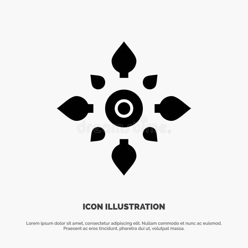Fira, dekorera, garnering, Diwali som är hinduisk, vektor för Holi fast skårasymbol vektor illustrationer