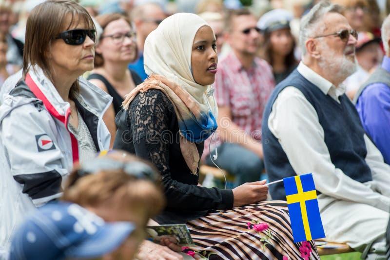 Fira den nationella dagen av Sverige royaltyfria foton