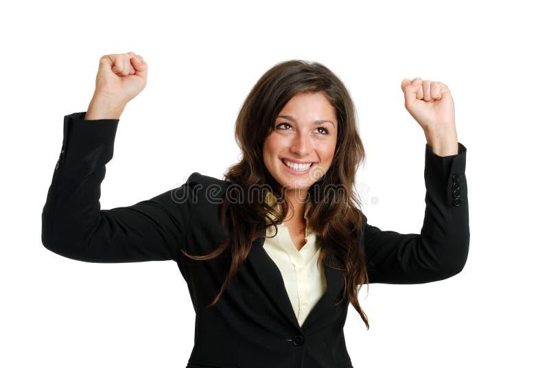 fira framgångskvinna för affär royaltyfri bild