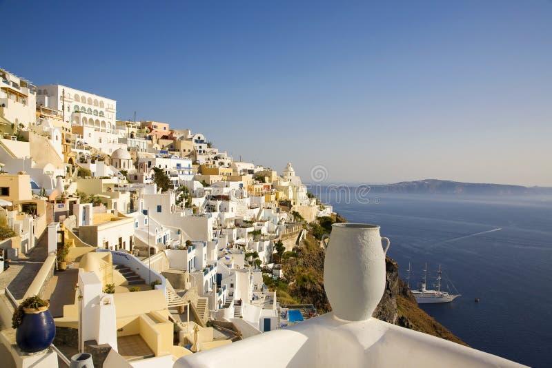 Download Fira Main Town, Santorini, Greece Stock Photo - Image: 8587802
