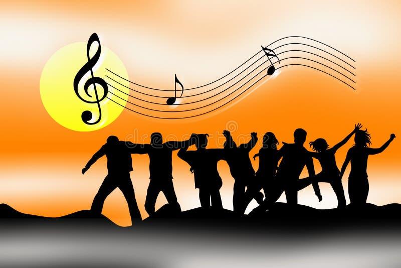 fira musik royaltyfri illustrationer