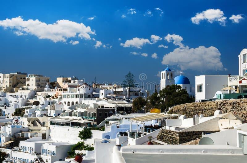 Fira, Thira town, Santorini, Cyclades islands, Greece. stock images