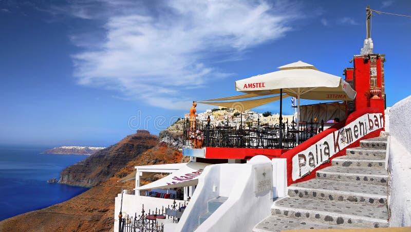 Fira Town, Santorini island royalty free stock photos