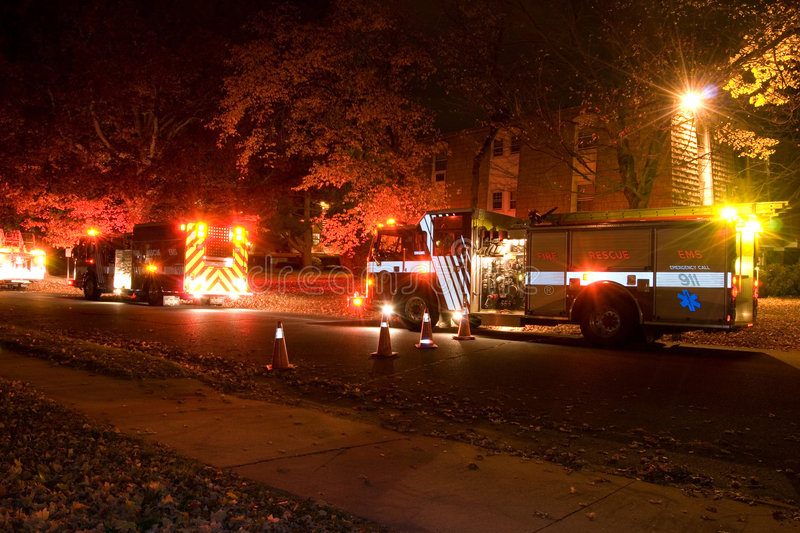 Download Fire stock photo. Image of emergency, night, macsuga, truck - 1416938
