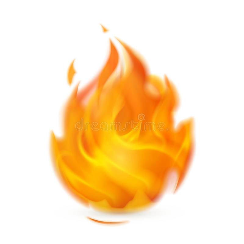 Fire. Computer illustration on a white background