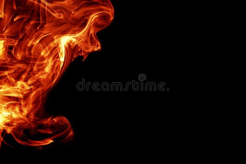 Fire. Like background on black