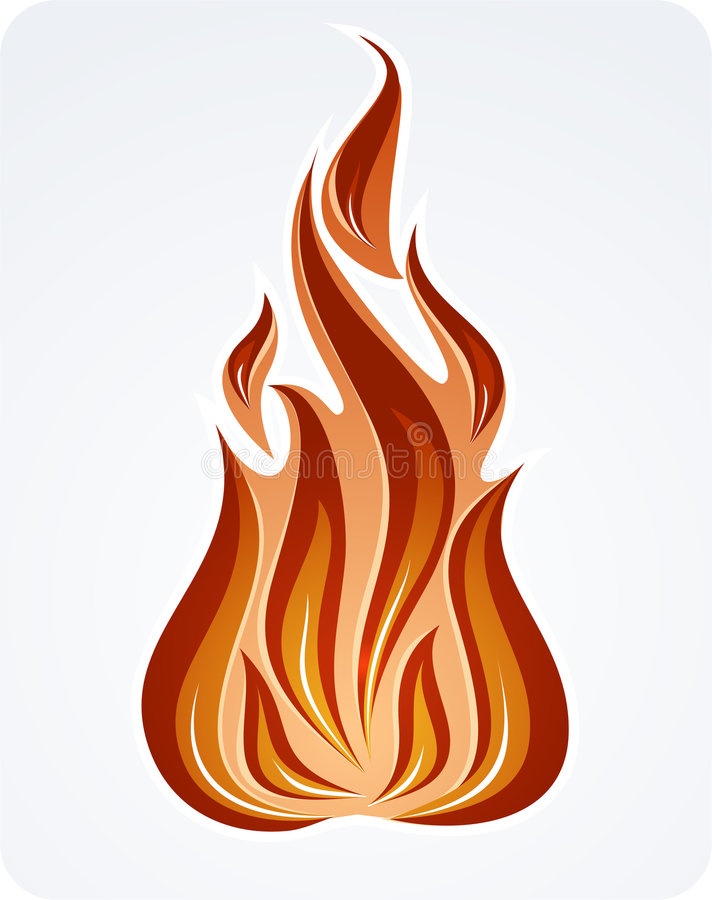 Download Fire stock vector. Illustration of objects, light, ornamental - 612411