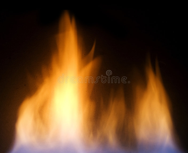 Fire. Flames over black background royalty free stock image