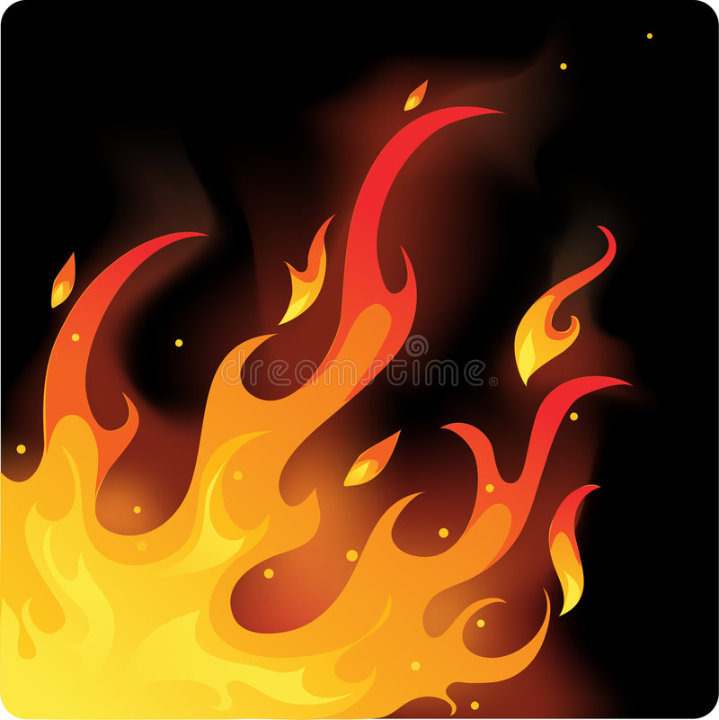 Fire. On black back ground royalty free illustration