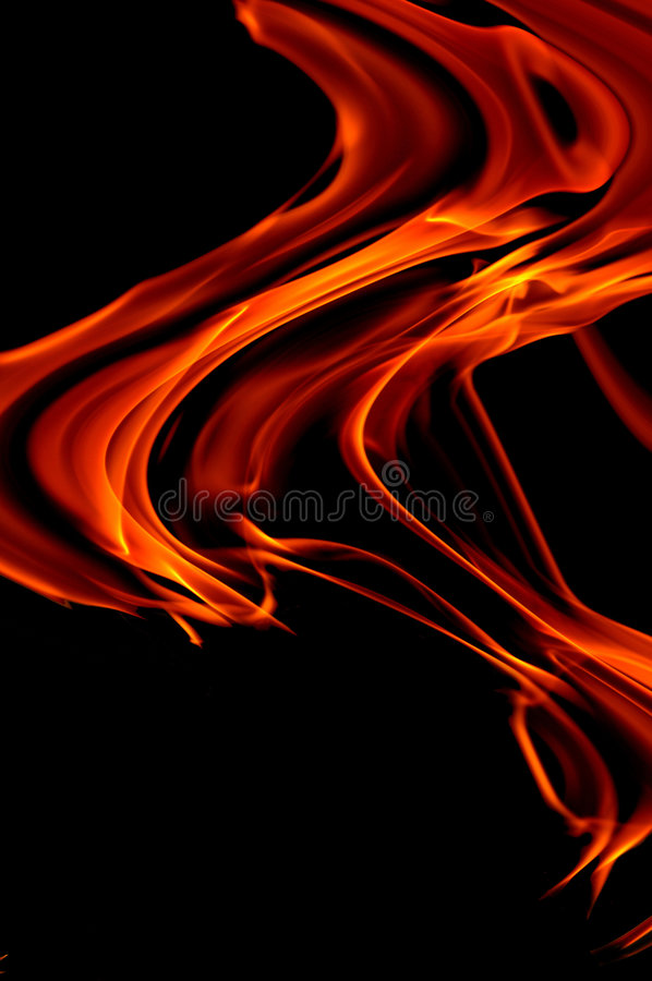 Fire abstract. On black backround royalty free stock image