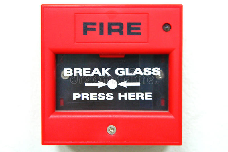 Fire alarm. Box for warning a Fire royalty free stock photography