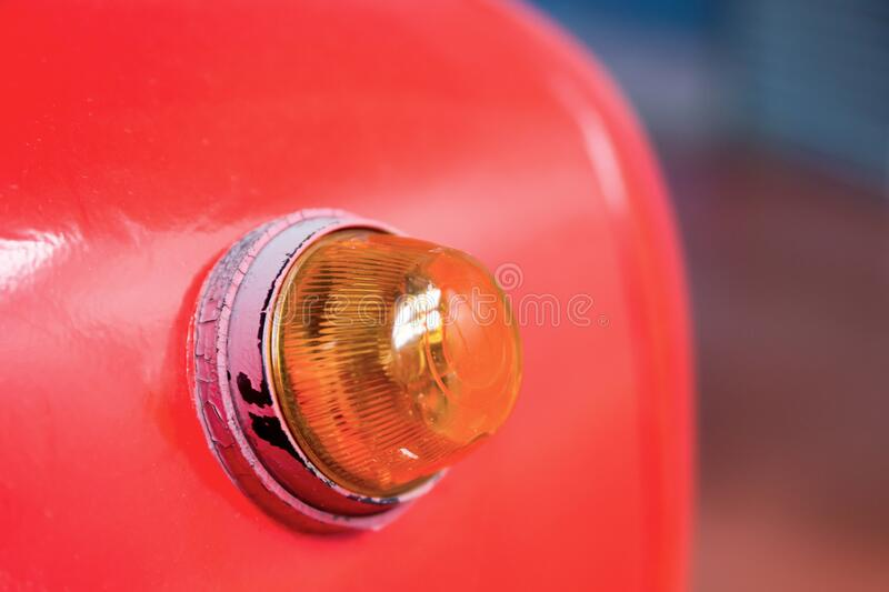 A fire alarm with built in strobe light to alert in case of fire royalty free stock photography