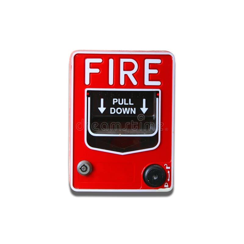 Fire alarm button. On white background stock photos