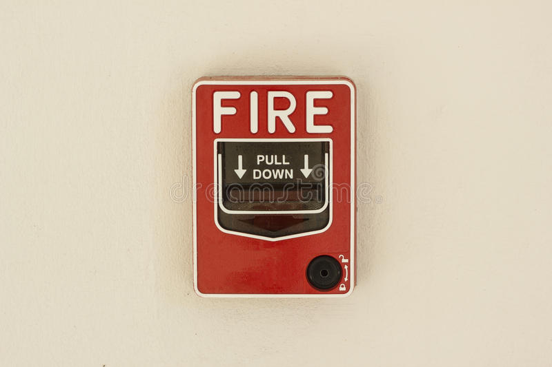 Fire alarm control panel. On wall royalty free stock photography